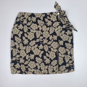Vintage wrap skirt with flowers
